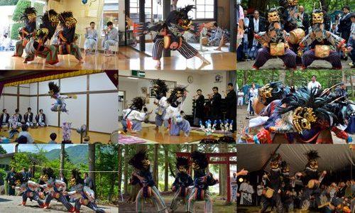 今までなかったので、地元の人に聞いてまとめてみた。「栗山獅子舞カレンダー2013」