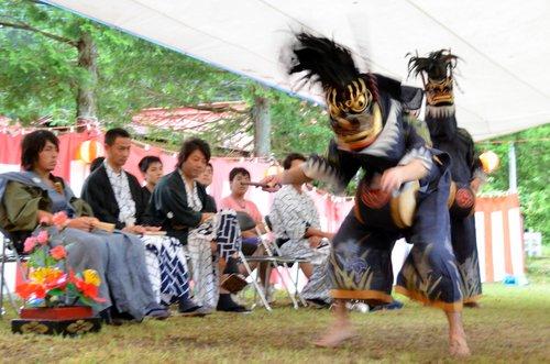 【日向地区の獅子舞】獅子舞ロック!これが「暴れ獅子」。ラストの盛り上がりは必見
