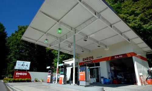 快適な栗山ドライブを。川俣温泉方面、最後のガソリンスタンド 松本油店 上栗山地区