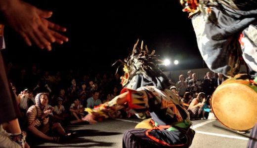 【湯西川温泉 竹の宵まつり2014レポ】オープニングに夜獅子舞