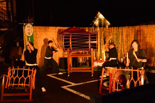 7色に輝く清流、観客を魅了する数十分間【竹の宵まつり&心かわあかり2015レポ】