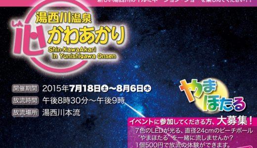 新しく生まれ変わるイルミネーション 湯西川温泉 竹の宵まつり&心かわあかり2015