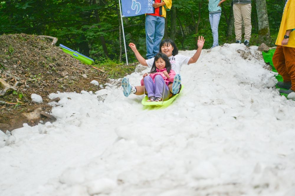 【奥鬼怒・川俣温泉 夏の雪あそび2017】6/24〜25、7/1〜2 夏なのに天然の雪!家族で遊ぼう!