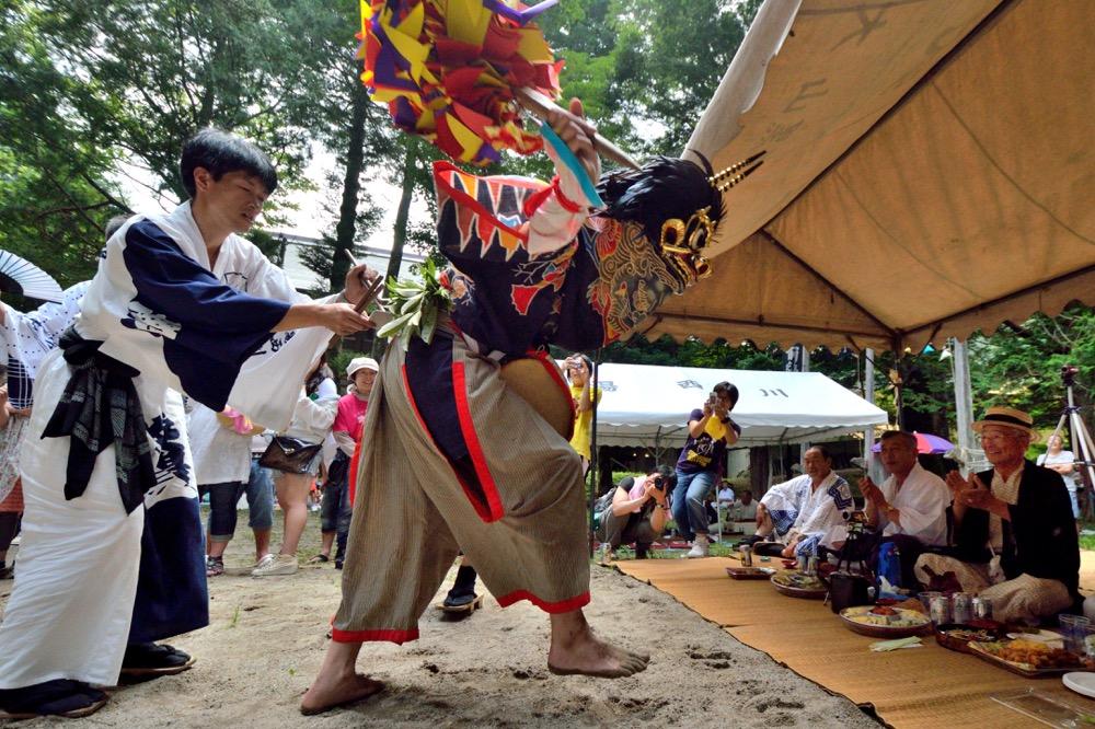 湯西川温泉 湯殿山神社祭礼