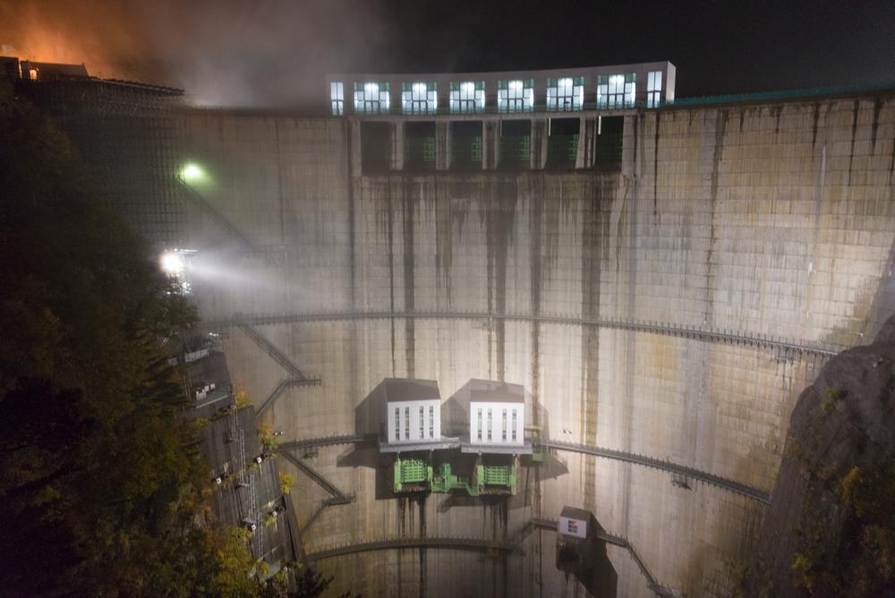 川俣ダム 秋のライトアップ