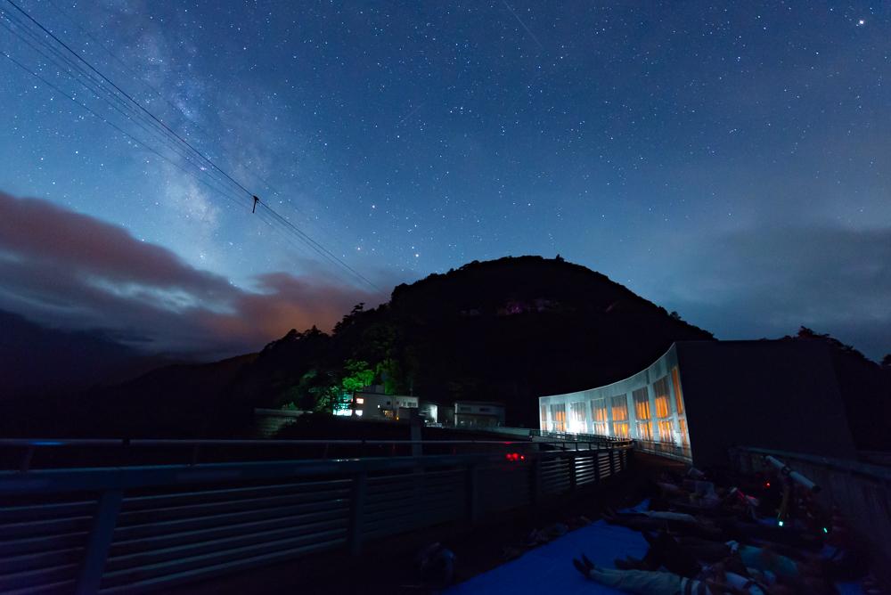川俣ダム 星空観察(天の川もうっすら見えます)