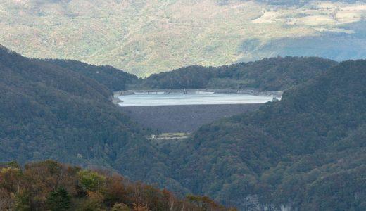 霧降高原から見る栗山ダム
