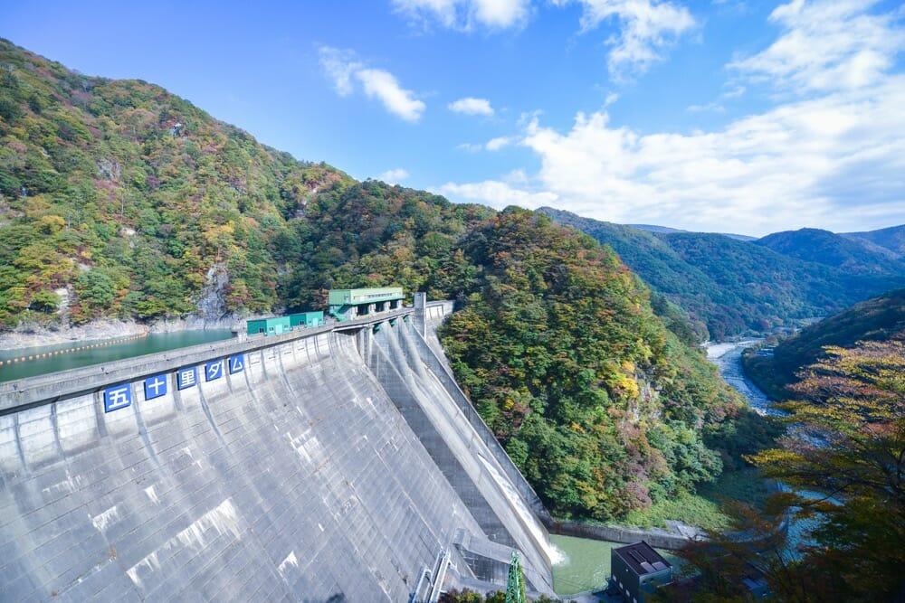 五十里ダム放流