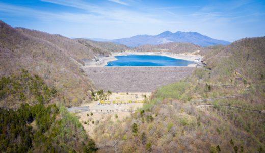 【栗山ダム】地域唯一のロックフィル&揚水発電。花見や登山と相性よし