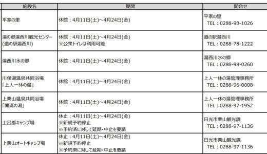 栗山エリア「祭・イベント・施設」の状況(5/16更新)